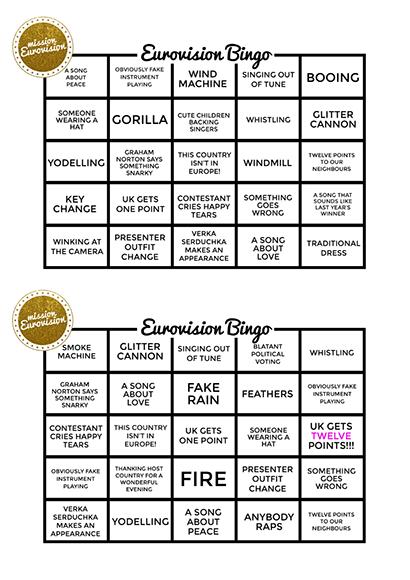 Bingo sheet 2