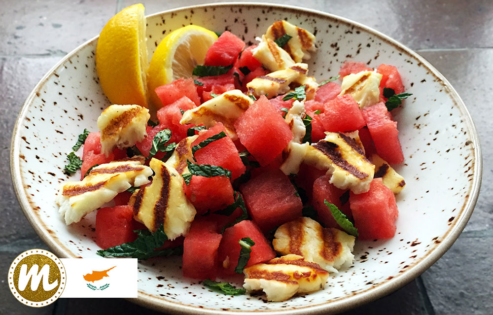 Halloumi watermelon and mint