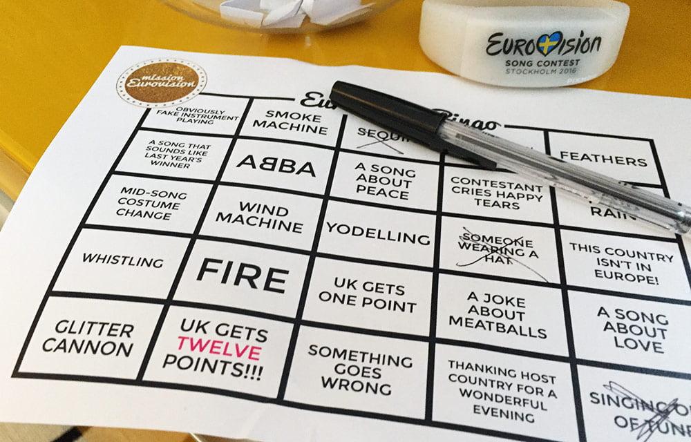 Mission Eurovision bingo